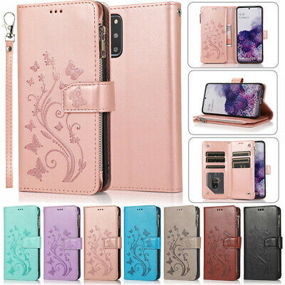 AU15.99 • Buy For Samsung S21+ Ultra Note 20 S20 S10 Magnetic Zipper Leather Wallet Case Cover