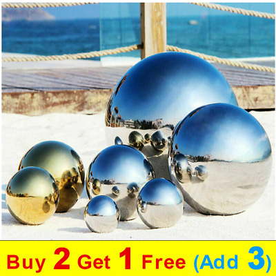 £3.49 • Buy 304 Stainless Steel Mirror Hollow Sphere Gazing Ball For Home Garden Decoration
