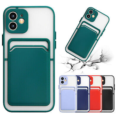 AU7.99 • Buy For IPhone 11 12 Pro Max XS XR 7 8+ Shockproof Silicone Case Card Holder Cover