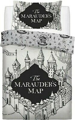 £17.99 • Buy OFFICIAL HARRY POTTER,  MARAUDERS MAP  Duvet Cover Set, FREE DELIVERY & RETURNS.