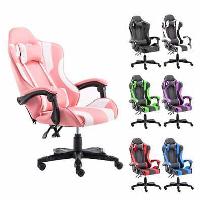 AU129 • Buy Gaming Chair Office Computer Seating Racing PU Executive Massage Racer Recliner