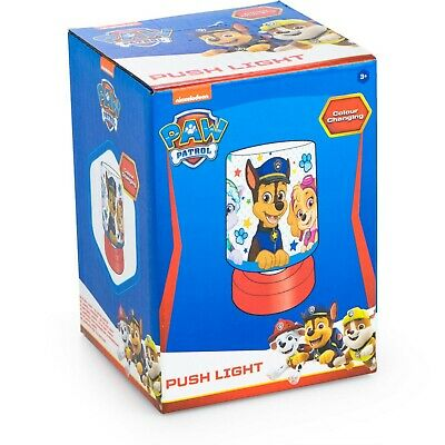 £9.99 • Buy Paw Patrol  Boys Bedside Push Light To Match Our Cars Duvets, Free Deliver