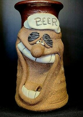 $40 • Buy 1982 Vintage 7  Mahon  Beer  Character Face Sculpted Hand Crafted Clay Mug