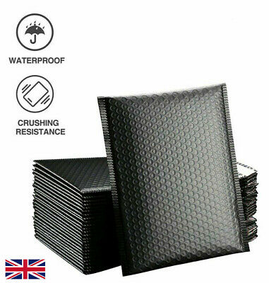 £22.99 • Buy Black Padded Bubble Envelopes Lined Poly Mailer Seal Bag Shipping Bags Packaging