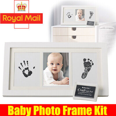 £12.49 • Buy Hand & Footprint Photo Frame Kit Ink Pad & White Frame Included Baby Best Gift