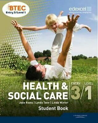 £30.48 • Buy BTEC Entry 3/Level 1 Health And Social Care Student Book 9781846909191