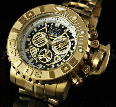 $249.99 • Buy Invicta 70mm Sea Hunter SWISS Chronograph 18K Gold Plated Stainless Steel Watch