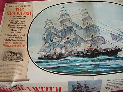 £74.99 • Buy The Sea Witch Model Kit - Aurora - The Sea Witch - Plastic Assembly Kit - 1972