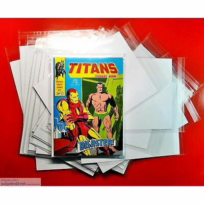 £12 • Buy Pocket Book Titans Size Comic Bags. Crystal Clear Sleeves Only X 25 NEW .