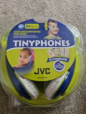 £14.99 • Buy JVC Tinyphones Safe Headphones For Kids 85db/1mW 3+ Fun Stickers Included