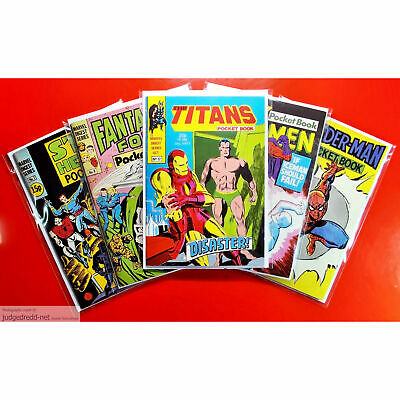 £12 • Buy Titans Marvel Digest Series Size Comic Bags. Crystal Clear Sleeves Only X 25 .
