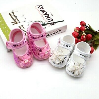 £4.99 • Buy Newborn Baby Girl Floral Cotton Shoes Toddler Soft Sole Casual Walking Shoes