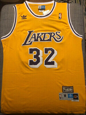 $25.97 • Buy Magic Johnson #32 Los Angeles Lakers Men's Yellow Stitched Basketball Jersey