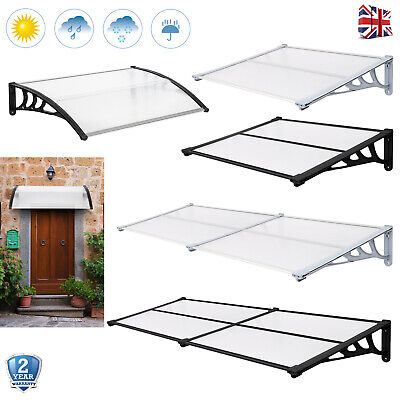 £63.99 • Buy Door Porch Canopy Awning Rain Sun Shelter Outdoor Front Back Patio Roof Cover UK