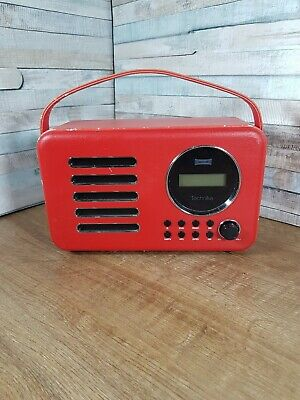 £18.99 • Buy Technika Red Leather DAB Radio  DR2121QLondon 13A101834UK TESTED