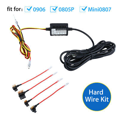 AU26.59 • Buy Universal Micro USB Hard Wire Cable Kit 4M+ Fuse For B1W 0906 Video Car Dash Cam