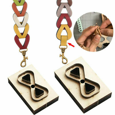 £6.99 • Buy MULTH-PURPOSE DIY Wooden Die Cutting Leather Mold Tool