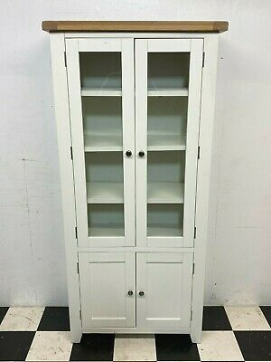 £175 • Buy Hampshire White Painted Oak Shaker Bookcase Display Cabinet - RRP £449 -Delivery