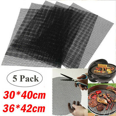 £5.99 • Buy BBQ Grill Mesh Mat Cooking Fish Meat Reusable Sheet Resistant Non-Stick Baking