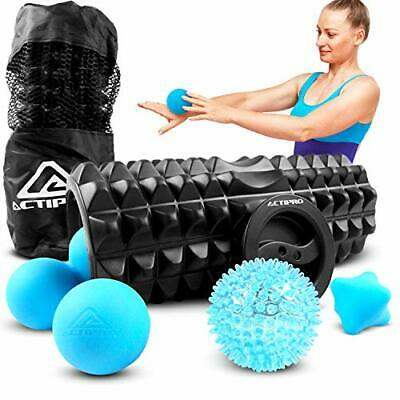 AU44.26 • Buy Actipro - Complete 5 Piece Foam Roller And Massage Ball Set. Includes Foam