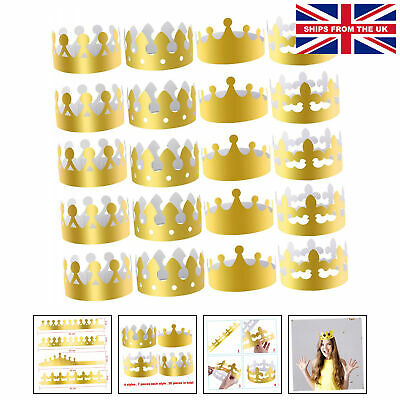 £14.99 • Buy 28 Pieces Gold Paper Crowns Party King Crown Paper Hats For Party And Celebra...