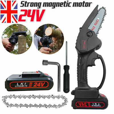 £35.99 • Buy Rechargeable Mini Handheld Cordless Electric Chainsaw Wood Cutter Cutting Tool..