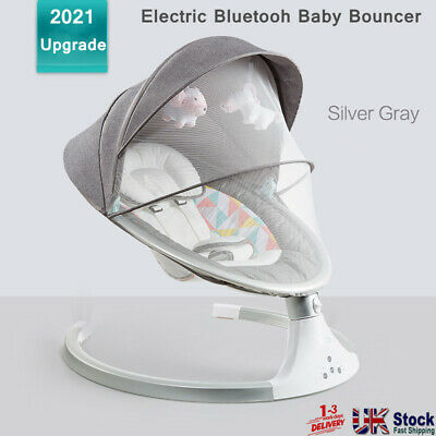 £64.99 • Buy Electric Baby Rocker Swing Rocking Crib Outdoor Cot Bed Bluetooth Infant Cradle