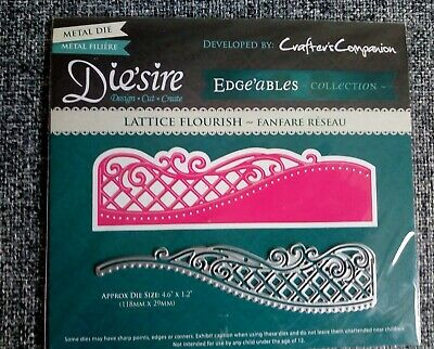£4 • Buy  Die'sire Edgeables Lattice Flourish Metal Die By Crafter's Companion New