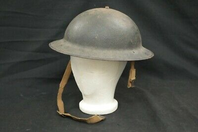 $66 • Buy WWII US Army M1917A1 Kelly Combat Helmet, Liner & Chinstrap, 23B Cayey R.R.