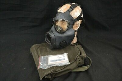 $28 • Buy US Army M17A2 Military Biological & Chemical Gas Mask, Waterproofing Bag & Pouch