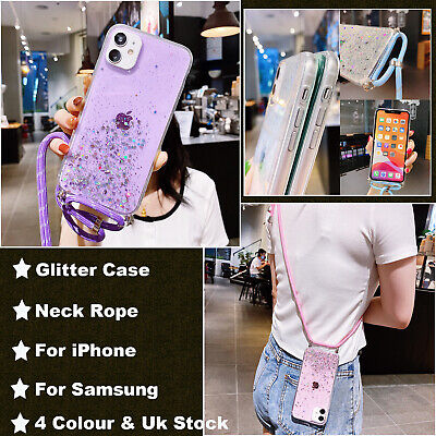 £4.29 • Buy Case Cover With Neck Lanyard Cord Strap Crossbody For IPhone 7 8 Plus & Samsung