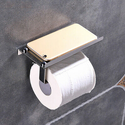 AU13.43 • Buy Wall Mounted Bathroom Toilet Paper Holder Rack Tissue Roll Stand Stainless ,.