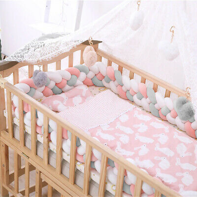 £13.89 • Buy Baby Bedding Set Cot Cotbed 2 Meters Pillow Cotton Plush Cover Bumper Cushion