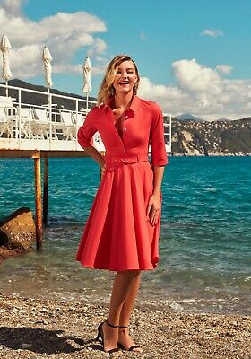£89.99 • Buy Red Shirtwaister Vintage 1950s 50s Style Summer Dress UK12/US08