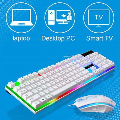 AU18.99 • Buy Gaming Keyboard Mechanical Keyboard And Wired Mouse Set For PC Laptop 2Colors