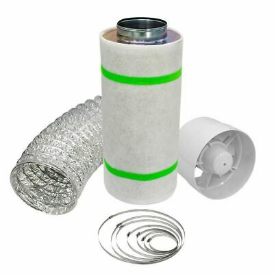 £39.90 • Buy 4  5  6  Carbon Filter Kit Hobby Hydroponics Odour Extraction Fan Aluminium Duct