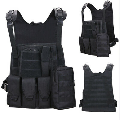 $22.99 • Buy Tactical Vest Military Plate Carrier Molle Assault Combat Airsoft Hunting Gear
