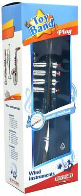 £11.99 • Buy Bontempi 4 Notes Silver Trumpet 38 / 42 Cm Educational Toy Fast &Free Shipping