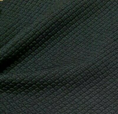 £5.29 • Buy Stretch Jersey Fabric Black Squared (thick Like Ponte)  - Sold By The Metre