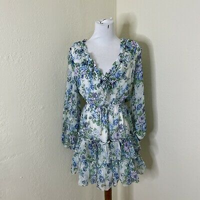 $225 • Buy Zimmermann Silk Whitewave Floral Ruffle Playsuit Dress  Size 2 PreOwned