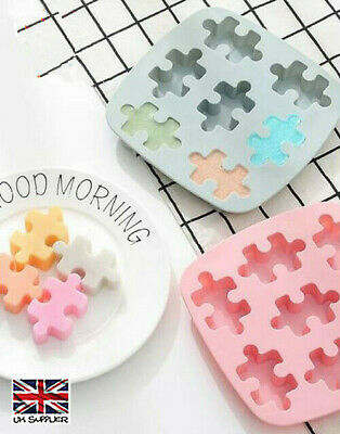 £3.79 • Buy Puzzle Shape Silicone Wax Melt Mold Chocolate Candy Cake Mould Sweets Ice Cubes