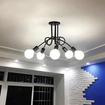£26.90 • Buy NEW Modern Creative Curve Chandeliers Wrought Lights For Restaurant Living Room