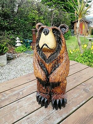 £145 • Buy Chainsaw Carved Grizzly Bear Cub, Garden Sculpture