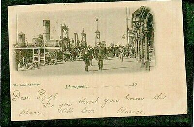 £4 • Buy Liverpool  Very Early Post Card Of The Landing Stage - Posted 1902