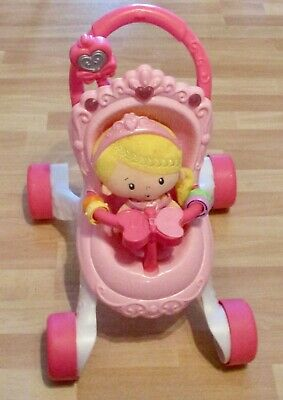 £14.99 • Buy Fisher-Price Princess Stroll-Along Musical Walker And Doll