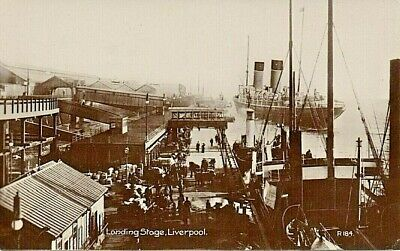 £2.95 • Buy Liverpool  - Real Photographic P/c -  Landing Stage ,Animated Scene