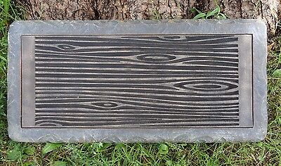 £100.91 • Buy Concrete Log Bench Top Mold 3/16th Abs Plastic Casting Mould 31  X 14  X 2.5