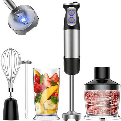 £24.99 • Buy Electric Hand Blender Set Food Processor Whisk Mixer Stainless Steel Blade 600W