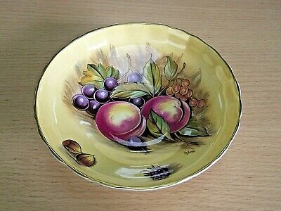 £25 • Buy Aynsley Orchard Gold Footed Bowl - Signed D. Jones