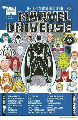 $8.70 • Buy Official Handbook Of The Marvel Universe Master Edition #9 VF 1991 Stock Image